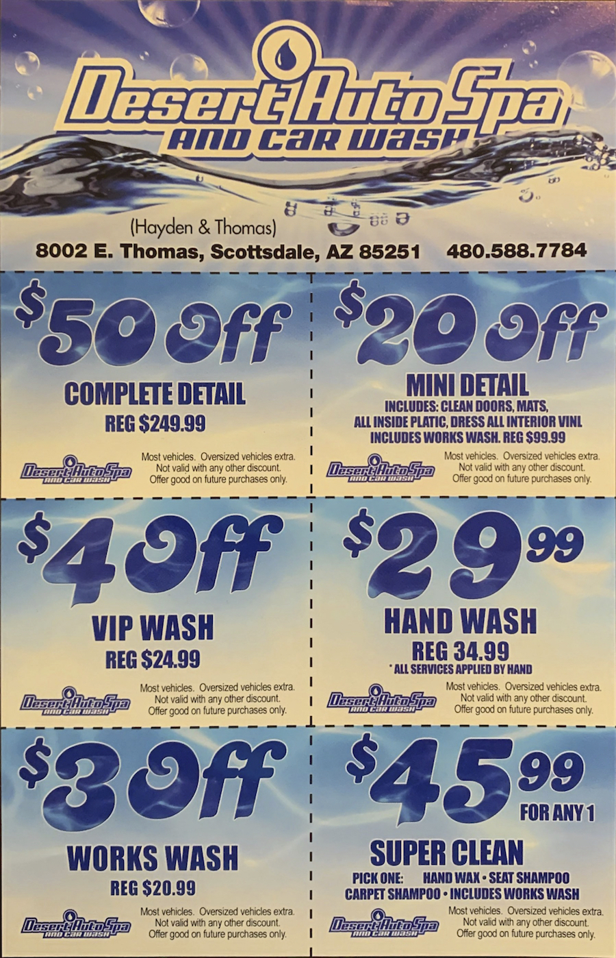 Auto Spa And Car Wash Deals And Coupons In Scottsdale Desert Auto Spa And Car Wash